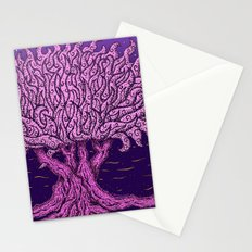 ombo pink tree of life Stationery Cards
