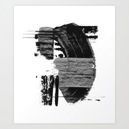 shape shift. black 02 Art Print