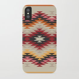 American Native Pattern No. 178 iPhone Case