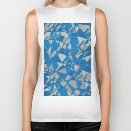 3D Abstract Futuristic Background II Biker Tank