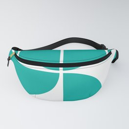 Mid Century Modern Turquoise Square Fanny Pack