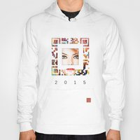 emma stone Hoodies featuring emma qr square'd by David Mark Lane