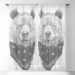 Wild bear Sheer Curtain
