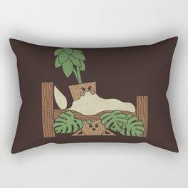 Scaredy Plant Rectangular Pillow