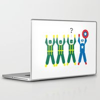 hydra Laptop & iPad Skins featuring Cap & Hydra (Minimal) by Nerd Literature