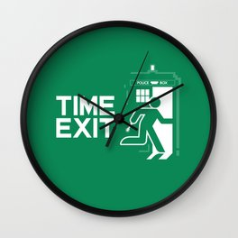 Time Exit - right panel Wall Clock