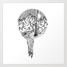 Mountain Campfires Art Print