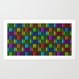 Tikis in a Rainbow of Colors! Art Print