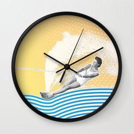 She's Workin' that Rooster Tail Wall Clock