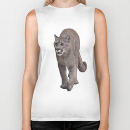 Florida panther or cougar digital painting on white background Biker Tank