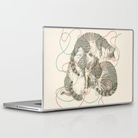 a lot of cats Laptop & iPad Skins featuring cats by Laura Graves