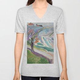 Edvard Munch Landscape of Kragero Unisex V-Neck