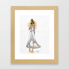 Flower Series: Sunflower Framed Art Print