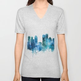 Dayton Ohio Skyline Unisex V-Neck