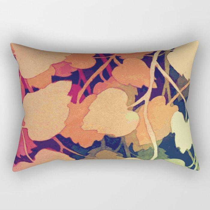 Floral abstract wall art Rectangular Pillow