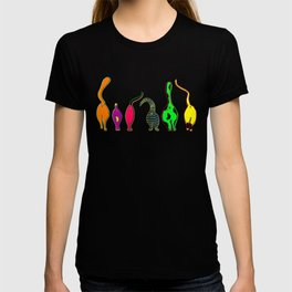 Colorful Cat Butts T-shirt