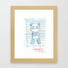 Forecast Panda Framed Art Print