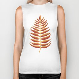 Gold and Copper Palm Leaf Biker Tank