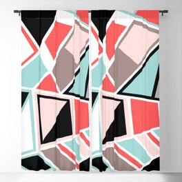 Abstract #534 Facets Blackout Curtain