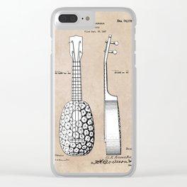 patent art Kamaka Ukulele 1927 Clear iPhone Case