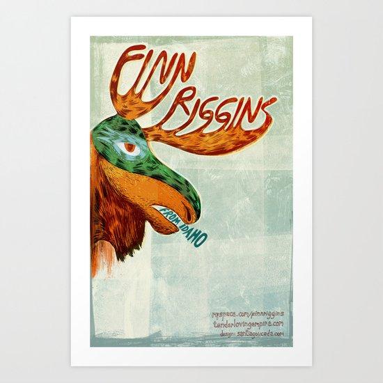 Finn Riggins gig poster Art Print