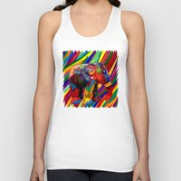 indonesia Tank Tops featuring Full color abstract Elephant iPhone 4 4s 5 5c 6, pillow case, mugs and tshirt by Three Second