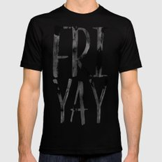 FRIYAY Black MEDIUM Mens Fitted Tee