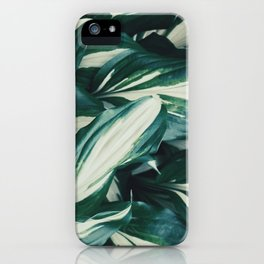 Wavy leaves iPhone Case
