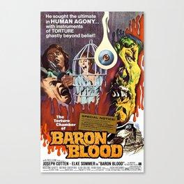 Baron Blood, vintage horror movie poster Canvas Print