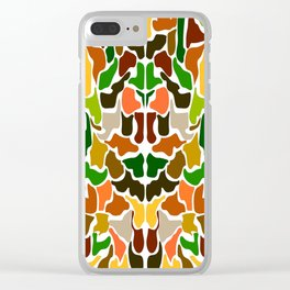 Autumn Camouflage Clear iPhone Case