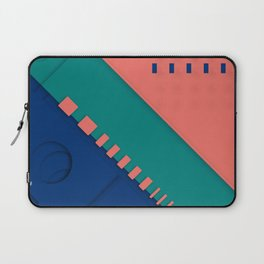 Color material design, paper layers with dynamic halftones Laptop Sleeve