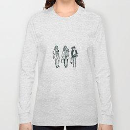 Brush Pen Fashion Illustration - East Coast Girls Long Sleeve T-shirt