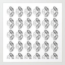 Metal Floral Art Print