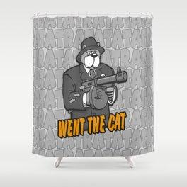 RATATATAT Went The Cat Shower Curtain