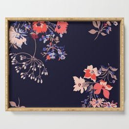 Colorful Night Roses Serving Tray