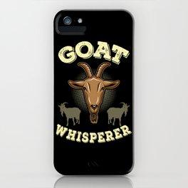 GOAT: Goat Whisperer iPhone Case