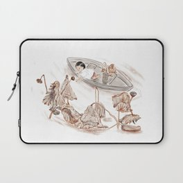 Girl and withered lotus Laptop Sleeve