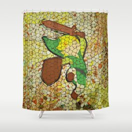 """It's Never Too Dangerous... (Homage To Link from """"The Legend Of Zelda"""") Shower Curtain"""
