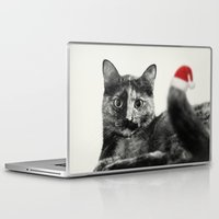 merry christmas Laptop & iPad Skins featuring Merry Christmas! by SensualPatterns