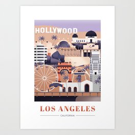 Los Angeles, California Art Print