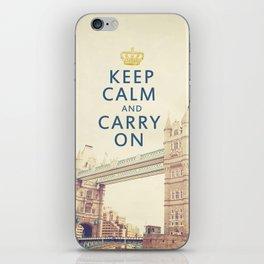 Keep Calm London iPhone Skin