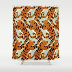 Tiger Conga pattern Shower Curtain
