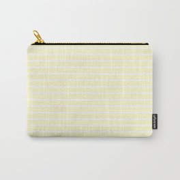 Horizontal Lines (White/Cream) Carry-All Pouch