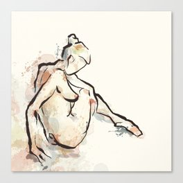Daydream, Seated Nude Canvas Print