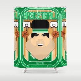 Basketball Green - Court Dunkdribbler - Victor version Shower Curtain