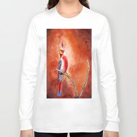 cardinal Long Sleeve T-shirts featuring cardinal by HaMaD ArT