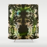 parks and rec Shower Curtains featuring REC by C. Wood