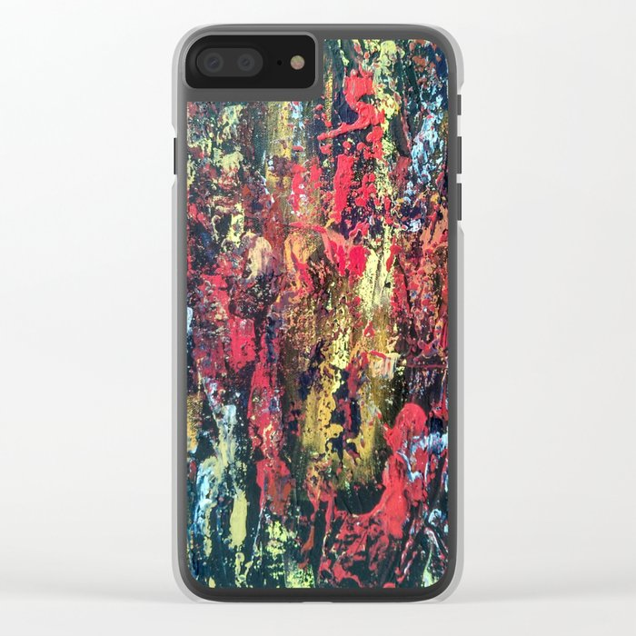 Abstract painting 103 Clear iPhone Case