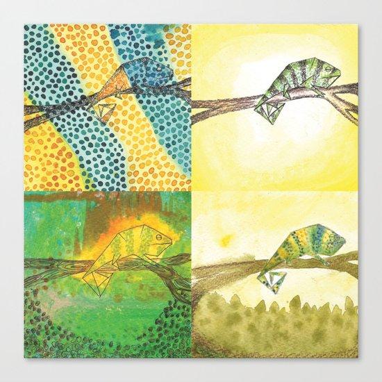 4 Chameleons Canvas Print