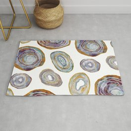 Agate Slices Plum and Teal Palette Rug